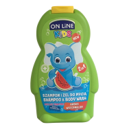On line kids 2v1 šampón a sprchový gel Meloun 250 ml