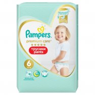 PAMPERS Premium Pants Carry Pack vel. 6 (18 ks)