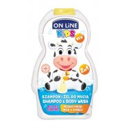 On line kids 2v1 šampón a sprchový gel  Milk 250 ml
