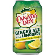 CANADA DRY Ginger ale and Lemonade 355ml plech